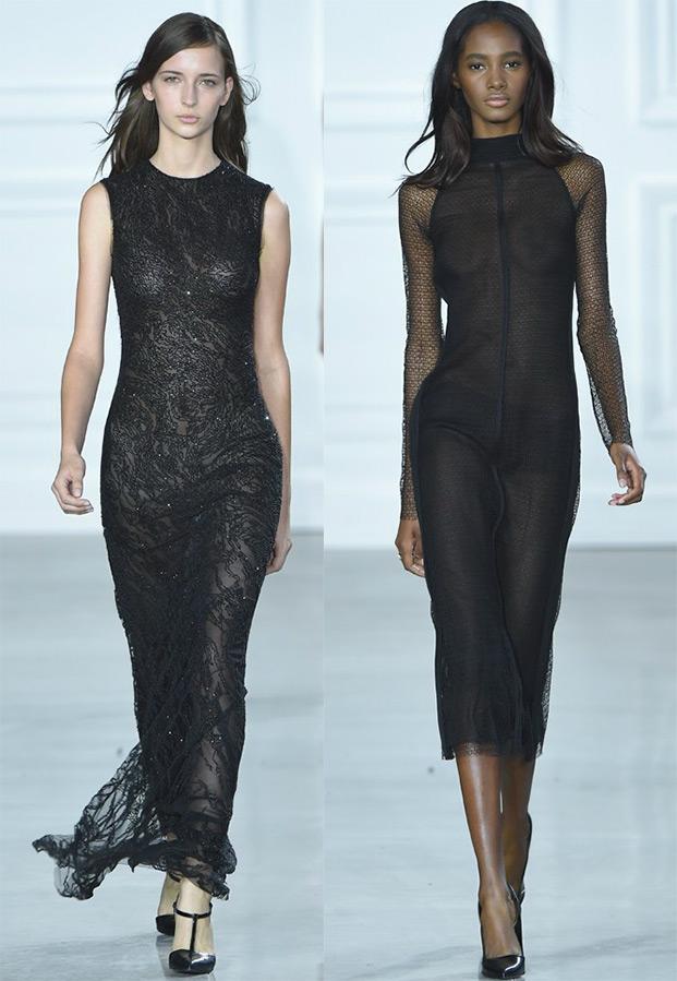 Черные облегающие платья