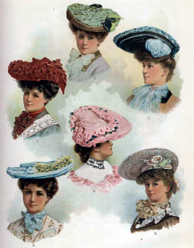 Женские шляпы 1900-е
