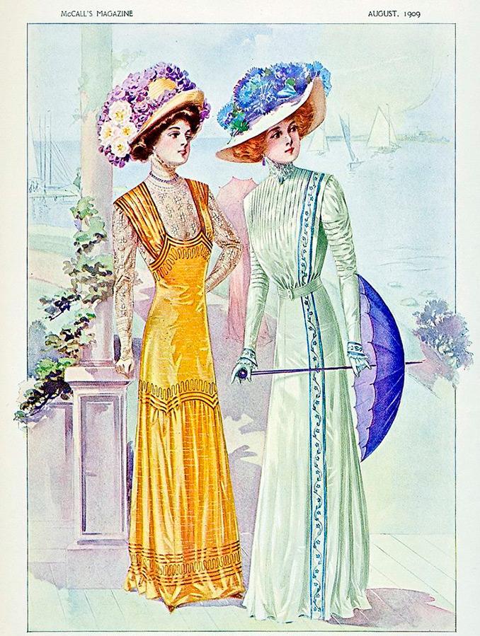 Мода и стиль в 1908-1914 годы