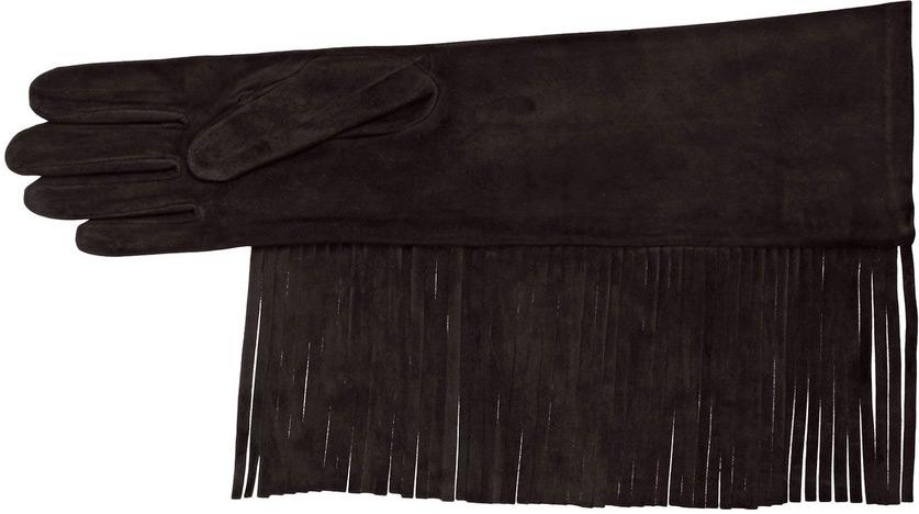 Перчатки с бахромой