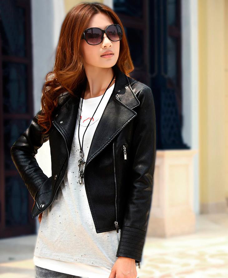 Женская кожаная куртка