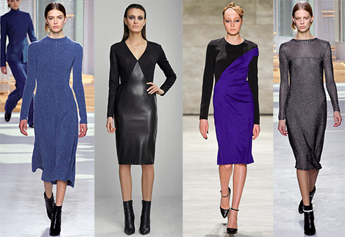 Строгие платья осень-зима 2015-2016