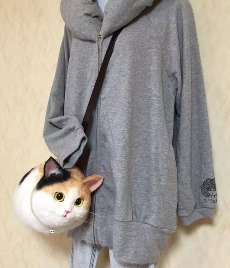Модная сумка из кота