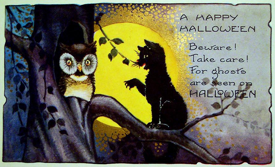 Хэллоуин и коты Средневековья