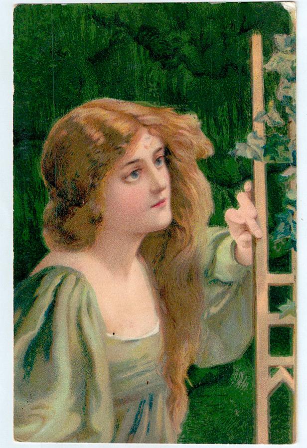 Гламурные винтажные открытки к празднику