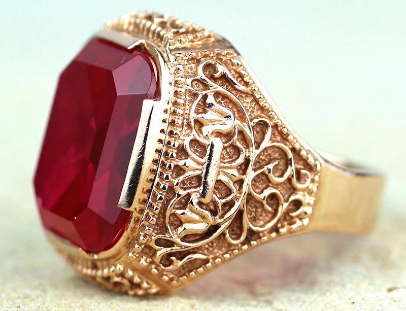 Золотой советский перстень
