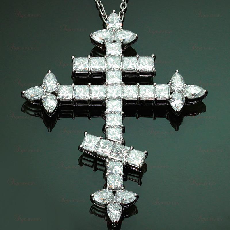 Православный крест с бриллиантами