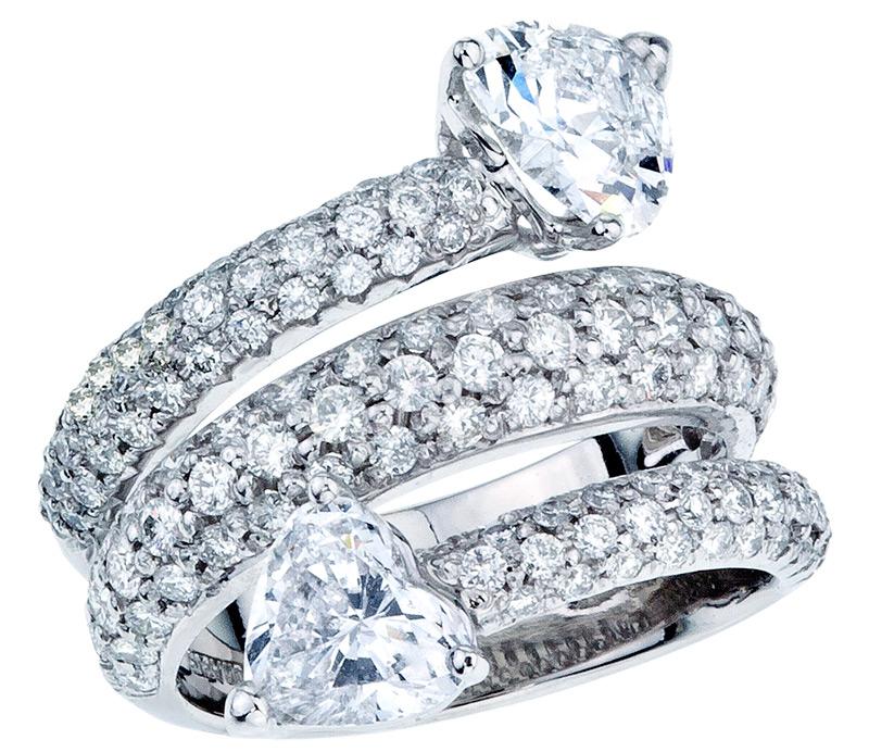 Кольцо – змея с бриллиантами