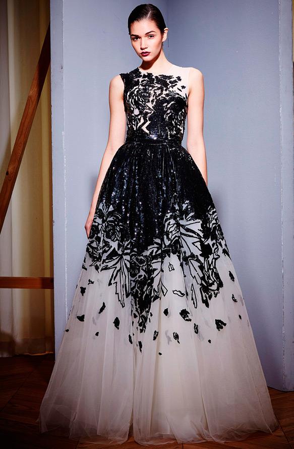 Платья черно белое зима