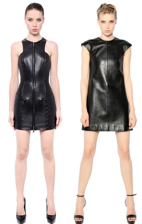 Черные кожаные платья