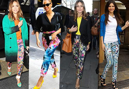 Модные женские брюки с принтами
