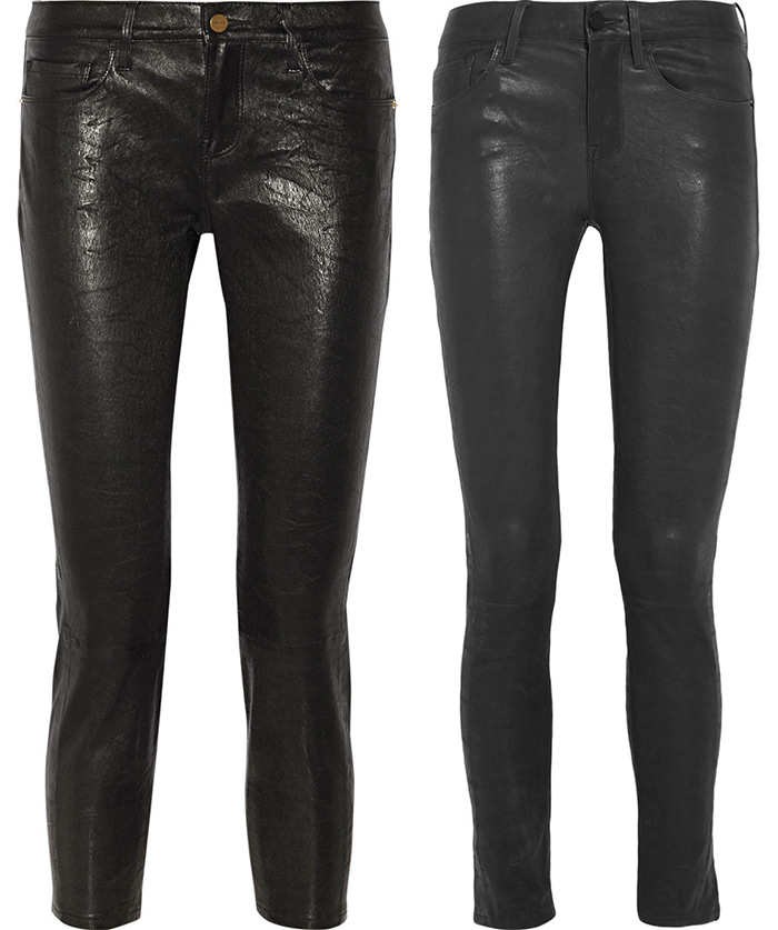 Модные женские брюки из натуральной кожи
