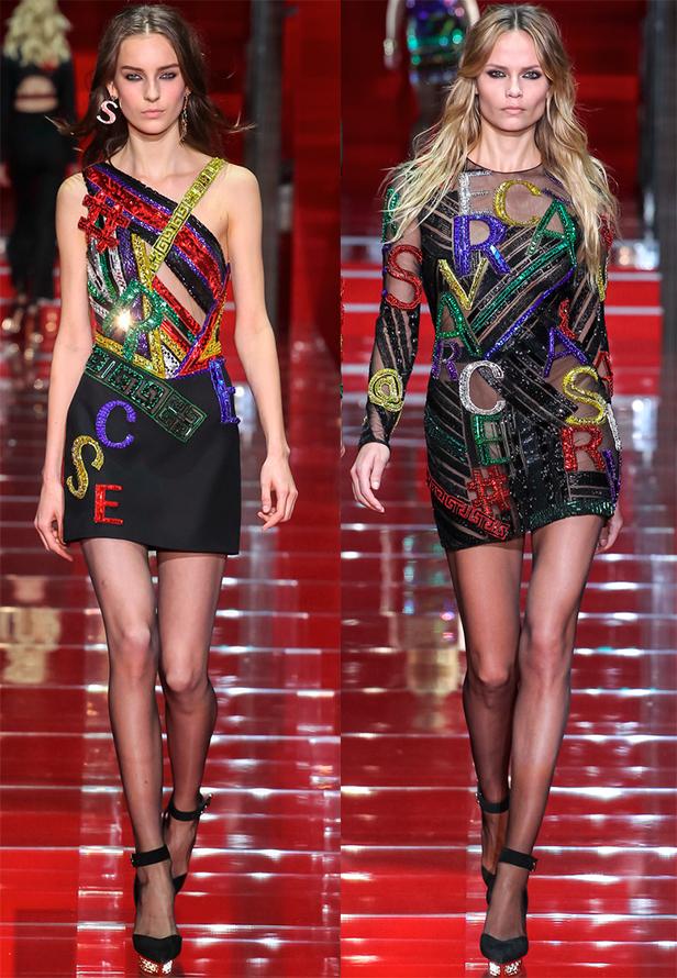 Яркие платья Versace