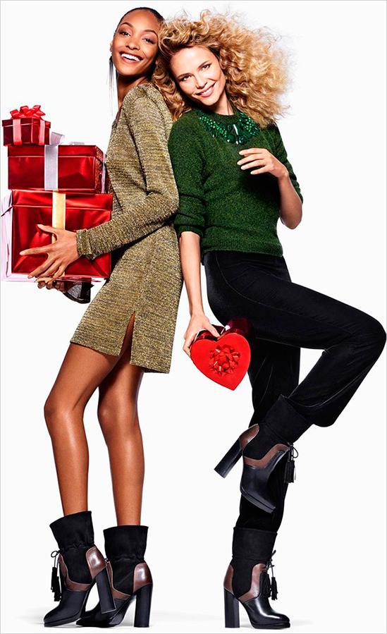 Наташа Поли и Джордан Данн для H&M Holiday 2015