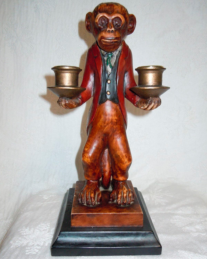 Подсвечник обезьяна