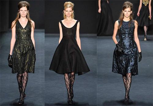 Модные платья до колена из зимних коллекций