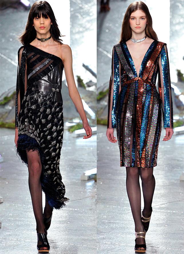 Блестящие платья Rodarte
