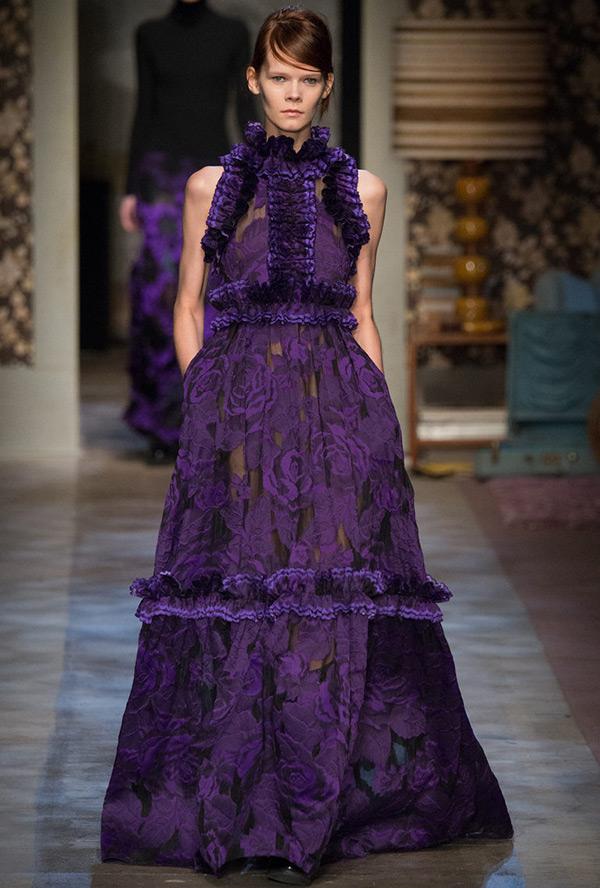 Фиолетовое новогоднее платье