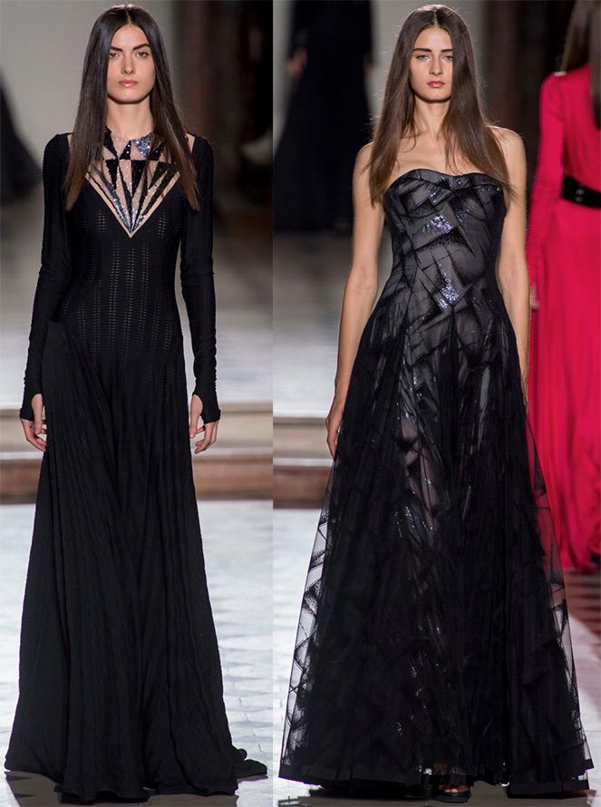 Мерцающие черные платья