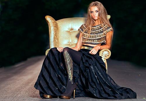 Черно–золотые и черно-серебристые платья