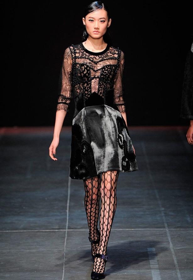 Прозрачные платья на зиму 2016