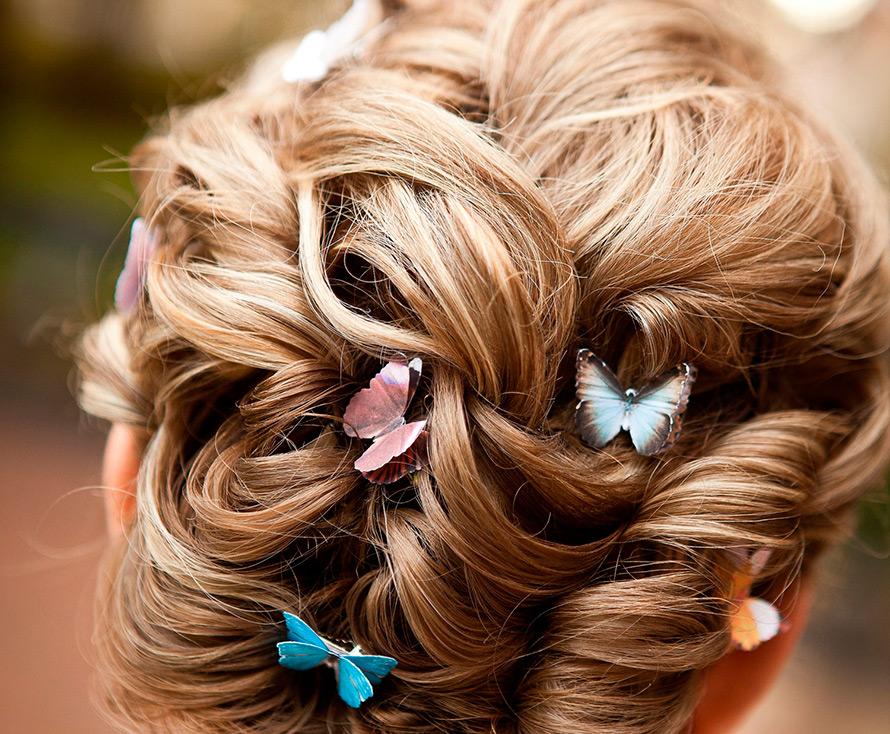 Украшения для волос в виде бабочек