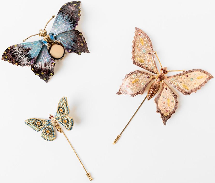 Модные украшения и аксессуары в виде бабочек