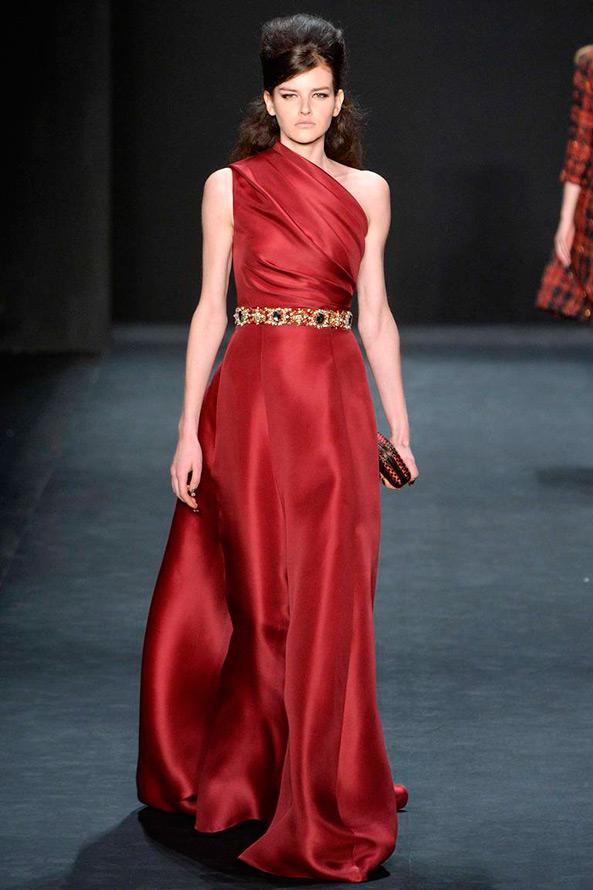 Badgley Mischka красное платье