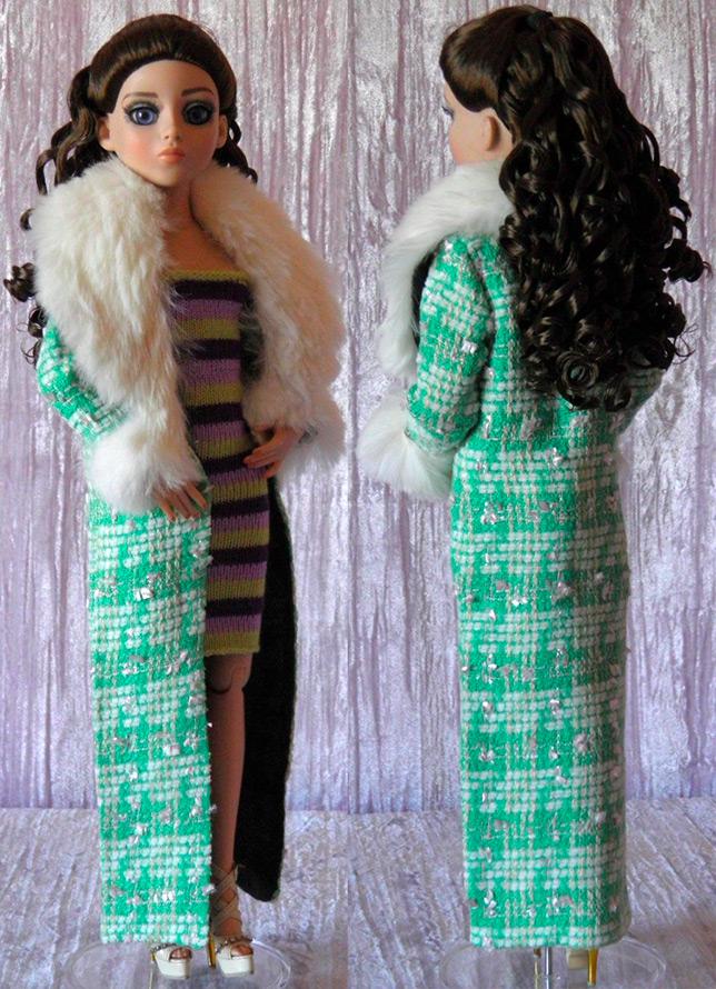Теплое пальто для куклы