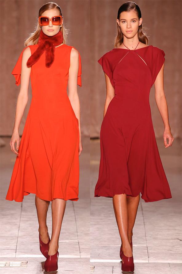 Модные красные платья на Новый год