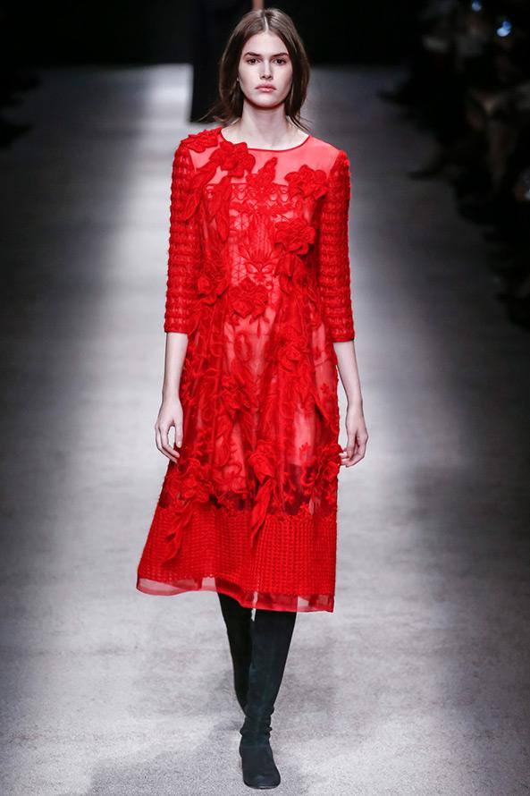 Платье на новый год красное