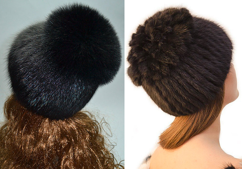 женские шапки из меха ондатры