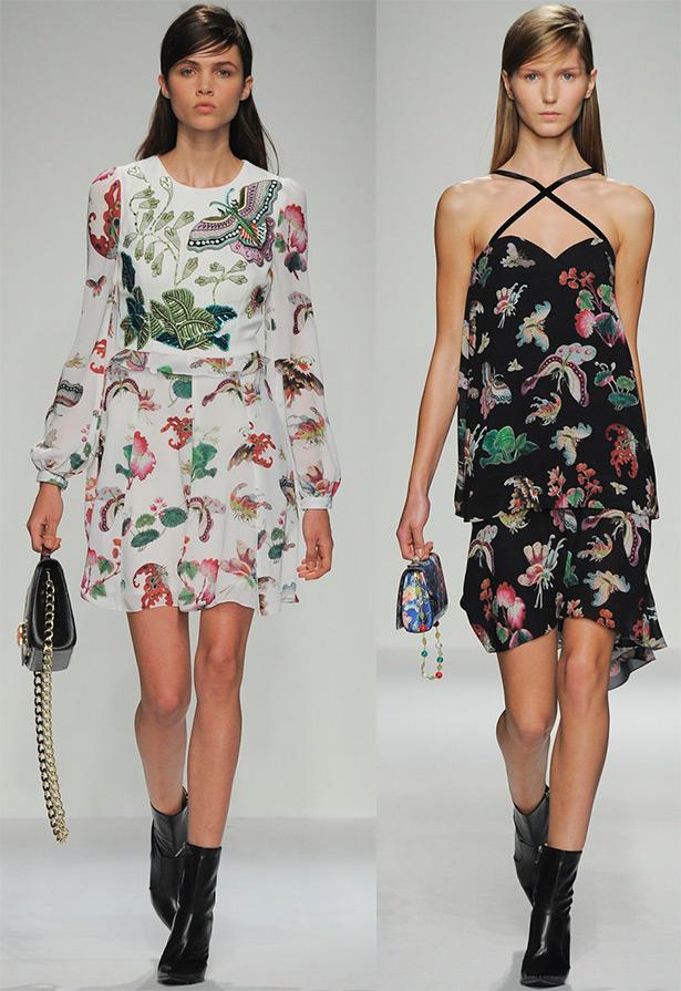 Принт - бабочка на платьях и другой одежде