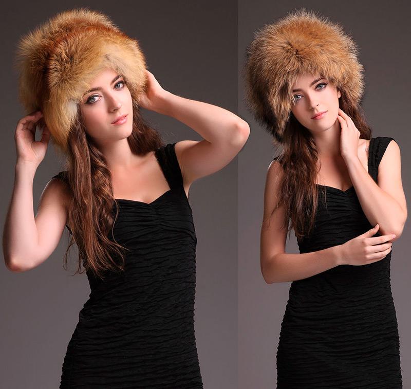 теплые меховые шапки