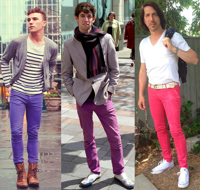 Яркие мужские джинсы