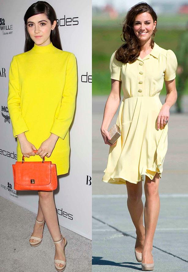 С чем сочетать желтое платье фото