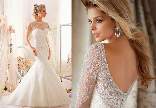 Сверкающие свадебные платья со стразами