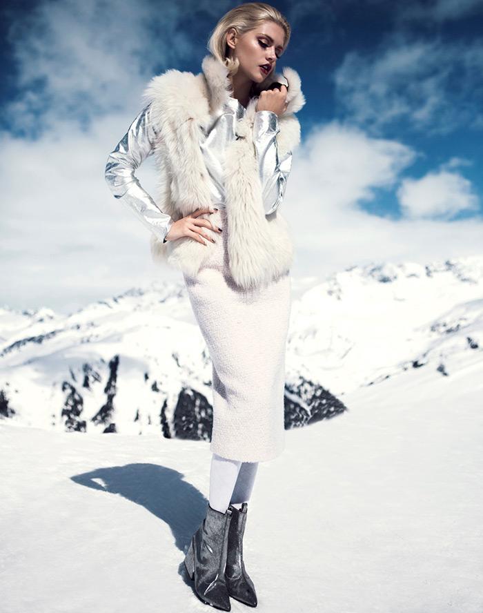 красивые девушки фото в одежде на снегу