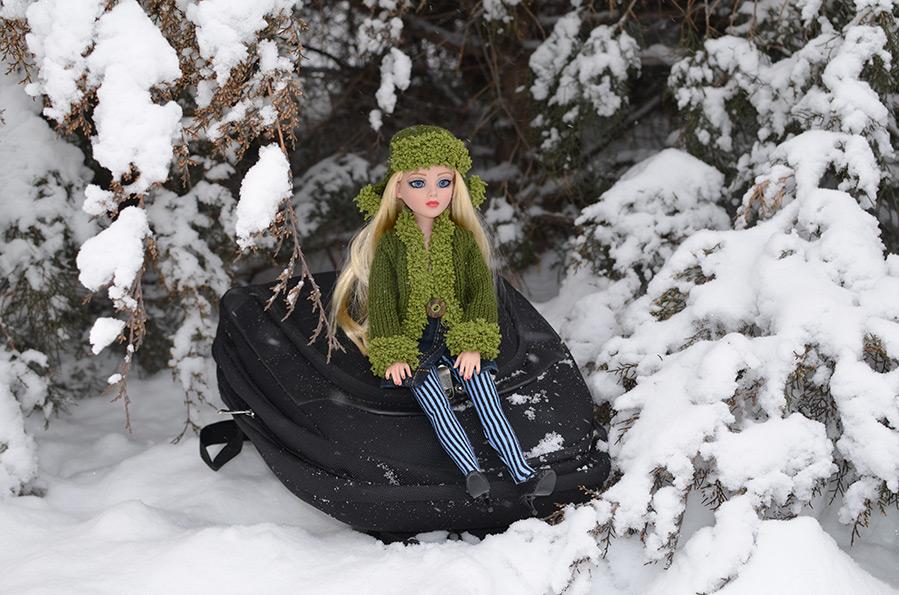 Зимняя фотосессия для любимой куклы