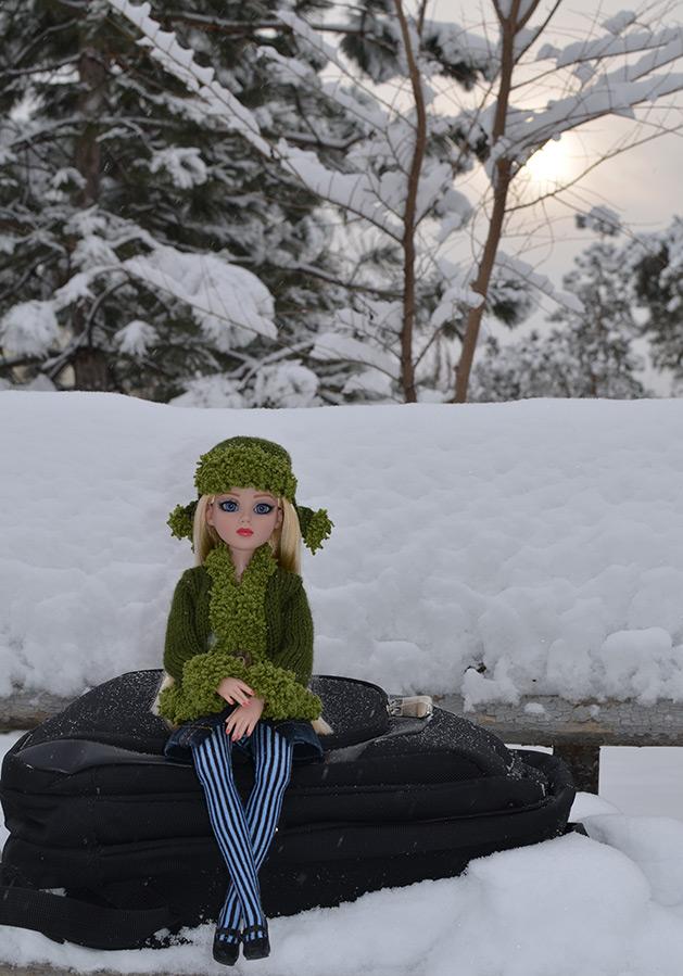 Кукла Тоннер фото на снегу