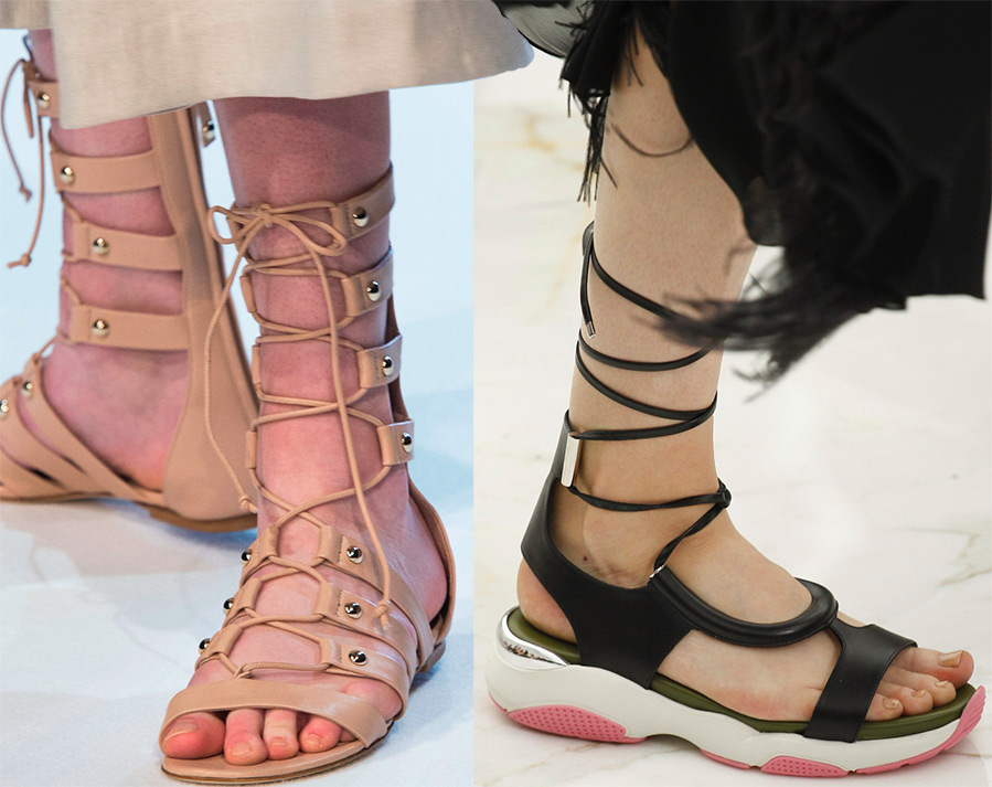 Женские сандали гладиаторы весна-лето 2016