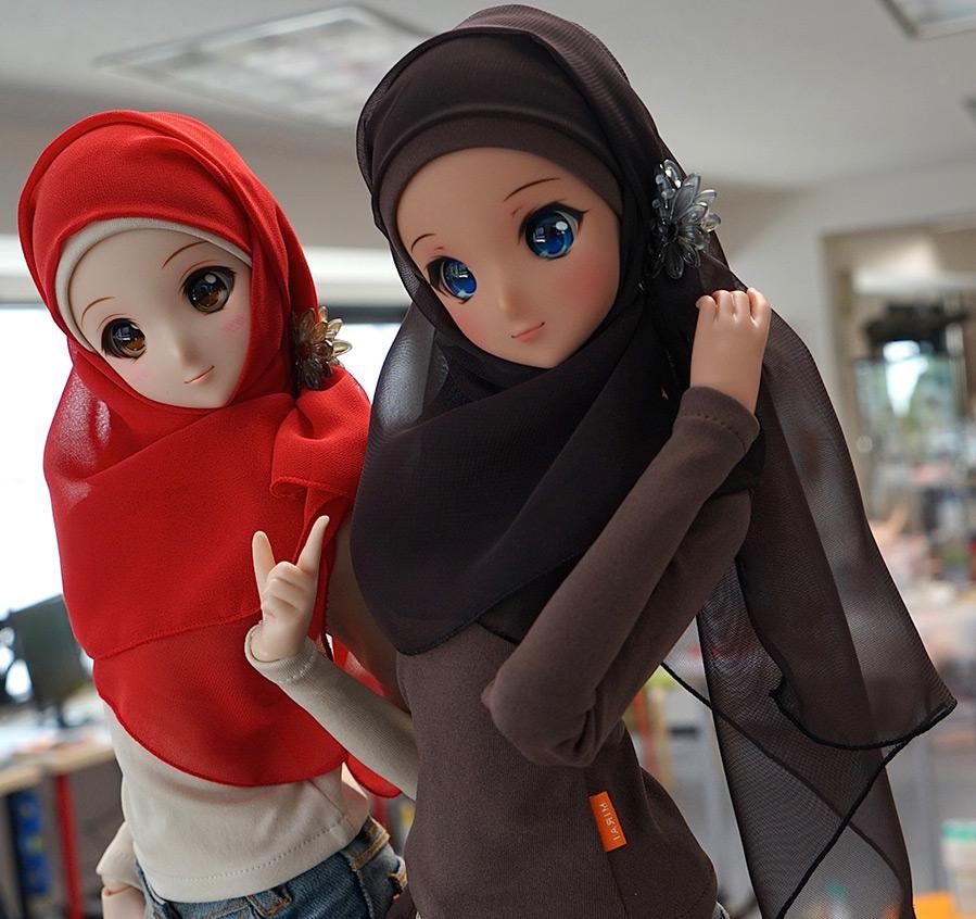 Японские куклы в платках