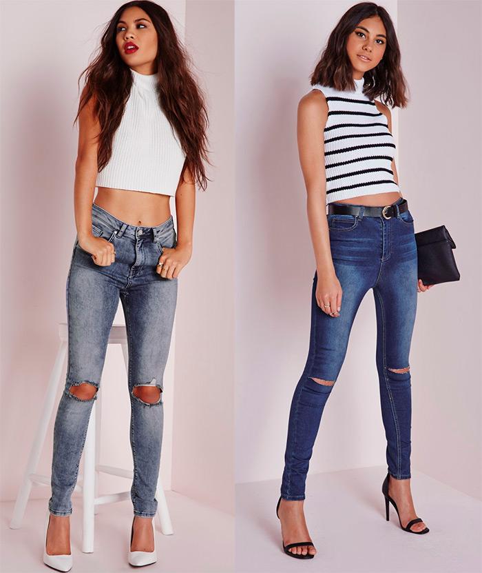Сексуальные девушки рваных джинсах