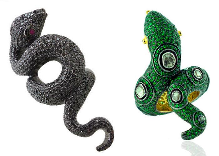 Вдохновляющие змеиные кольца и браслеты со змеями