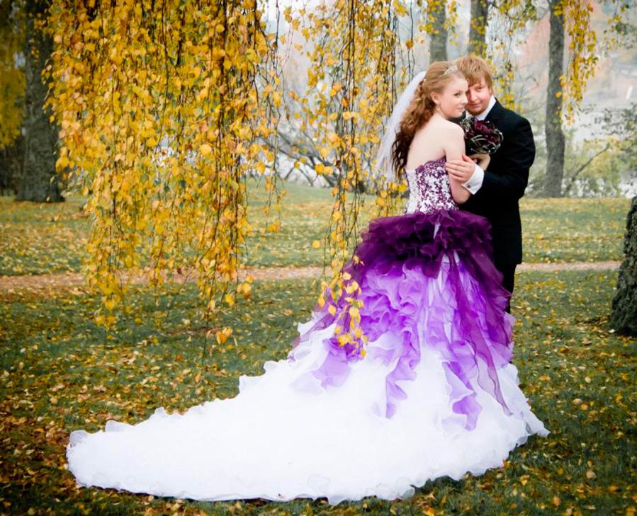20 Фиолетовых платьев для сказочной свадьбы