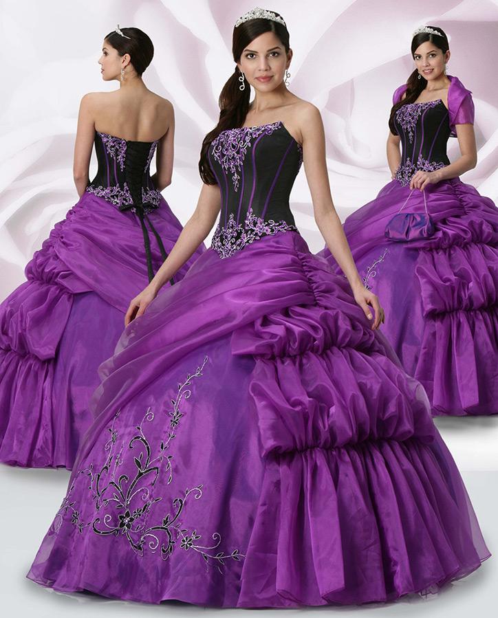 Роскошное фиолетовое платье