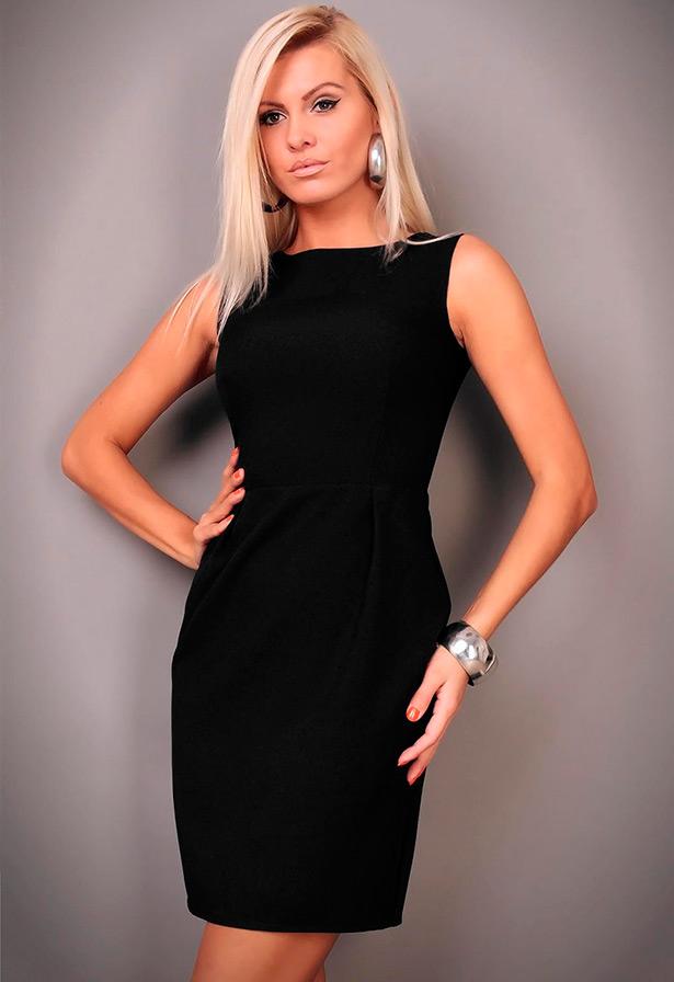 Платья без рукавов фото черные