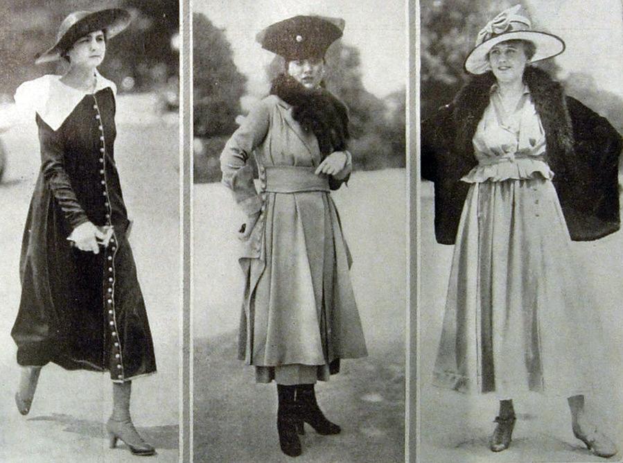 Мода и стиль времен первой мировой войны 1914 – 1918