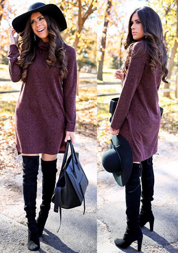 c02834b555c Платье-свитер – когда и с чем носить