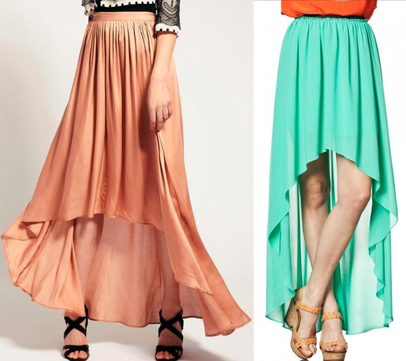 Шифоновые ассиметричные юбки